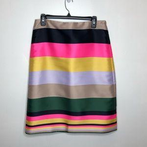 J. Crew Rare Colorblock Striped Skirt